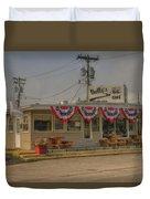 Shellys Route 66 Cafe Cuba Mo Dsc05554 Duvet Cover