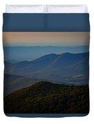 Shenandoah Valley At Sunset Duvet Cover