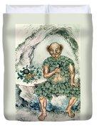 Shennong, Chinese God Of Medicine Duvet Cover