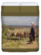 Shepherdess Duvet Cover by Anton Mauve