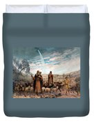Shepherds Field Painting Duvet Cover