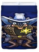 Sheriff Dillo Duvet Cover