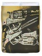 Sheriff Guns Duvet Cover