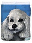 Sherman - Poodle Pet Portrait Duvet Cover
