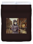 Shetland Sheepdog Art Canvas Print - Charleston Blue Duvet Cover