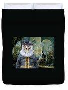 Shetland Sheepdog Art Canvas Print - The Painter And His Studio Duvet Cover