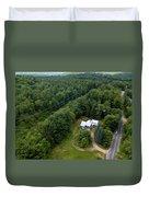 Tilt-shift Farm Duvet Cover