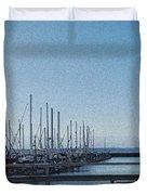 Shilshole Bay Marina 2010 Duvet Cover