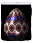 Shimmering Christmas Ornament Egg Duvet Cover