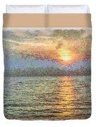 Shimmering Light Over The Water Duvet Cover