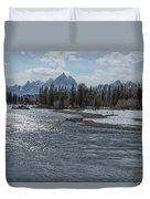 Shimmering Snake River And The Tetons Duvet Cover