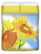Shining Sunflowers Duvet Cover