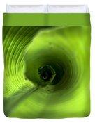 Shiny Green Plant Duvet Cover