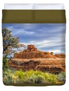 Ship In The Desert Duvet Cover