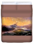 Ship In Trouble H B Duvet Cover