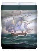 Ship Out To Sea Duvet Cover