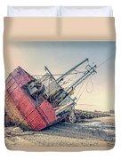 Shipwreck Provincetown Breakwater Duvet Cover