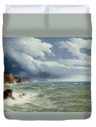 Shipping In Open Seas Duvet Cover by David James
