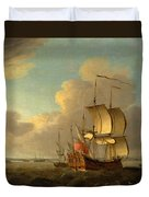 Shipping In The Thames Estuary Duvet Cover