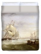 Shipping Off Hartlepool Duvet Cover