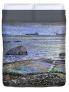 Ships And Stones Duvet Cover
