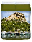Ships Collection To Italian Harbor Duvet Cover