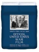 Ships For Uncle Sam - Ww1 Duvet Cover