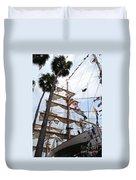 Ships Palm Duvet Cover