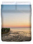 Shipwreck Sunset Panorama  Duvet Cover
