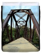 Shirley Railroad Bridge 1 Duvet Cover