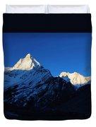 Shivling And Meru, Uttarakhand, India Duvet Cover