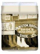 Shoe Shopping In The 30's Duvet Cover