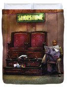 Shoes - Lee's Shoe Shine Stand Duvet Cover by Mike Savad