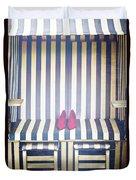 Shoes In A Beach Chair Duvet Cover