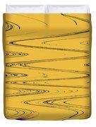 Shoestring Eucalyptus Abstract Duvet Cover