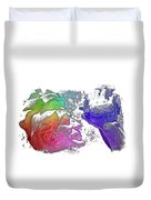 Shoot For The Sky Cool Rainbow 3 Dimensional Duvet Cover