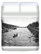 Shooting The Rapids In Maine Duvet Cover