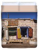 Shopping In Toconao Chile Duvet Cover