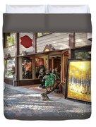 Shopping Street Duvet Cover