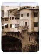 Shops On The Ponte Vecchio Duvet Cover