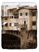 Shops On The Ponte Vecchio Duvet Cover