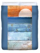 Shore And Sunset Duvet Cover