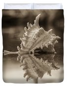 Shore Shell In Sepia Duvet Cover