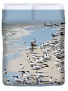 Shorebird Gathering Duvet Cover