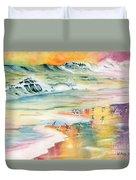 Shoreline Watercolor Duvet Cover