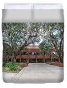 Shores Building At Florida State University Duvet Cover