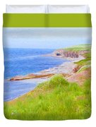 Shores Of Newfoundland Duvet Cover