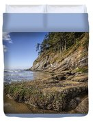 Short Sands Rocks Duvet Cover