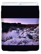 Shoshone Falls In Winter Duvet Cover