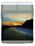 Shoshone River Sunset Duvet Cover